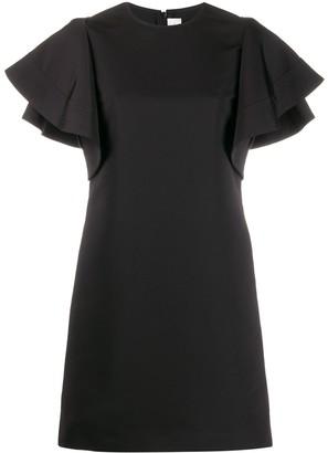 Victoria Victoria Beckham Peplum Sleeve Short Dress