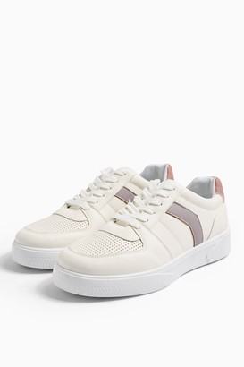 Topshop Womens Charlton Lilac Lace Up Shoes - Lilac