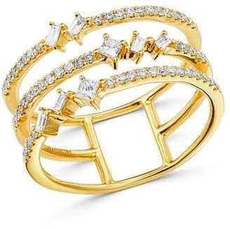 Madhuri Parson 14K Yellow Gold Diamond Essentials Trio Baguette Ring