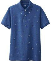Uniqlo Men's Dry Pique Anchor Print Polo Shirt