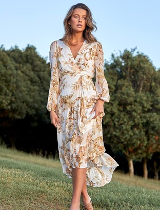 Forever New Lola Printed Maxi Dress - Tonal Botanics - 10