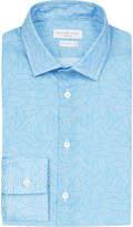 Richard James Contemporary-fit geometric-print cotton shirt