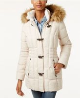 Laundry by Design Faux-Fur-Trim Toggle Puffer Coat
