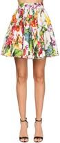 Dolce & Gabbana FLOWER PRINT POPLIN FULL MINI SKIRT