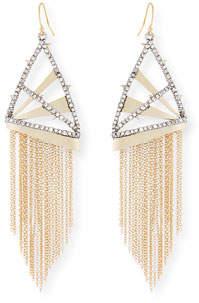 Alexis Bittar Chain Fringe Wire Drop Earrings