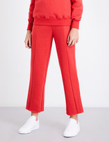 Good American Wide-leg cotton-jersey jogging bottoms