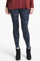 Hue Tonal Floral Jeans Leggings