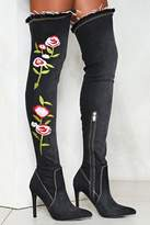 Nasty Gal Flower Up Knee-High Boot