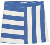 Milly Minis Striped Cotton Mini Skirt (Big Girls)