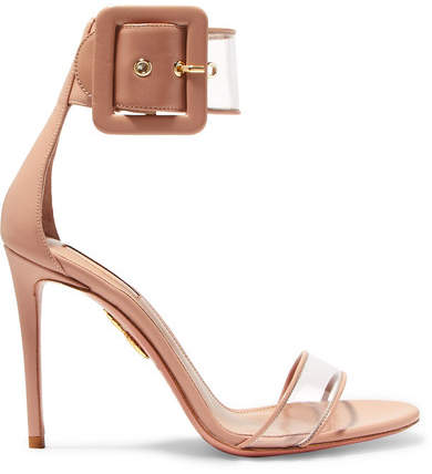 Aquazzura Seduction Pvc And Leather Sandals - Neutral