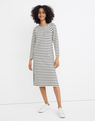 Madewell Pocket Tee Midi Dress in Nautical Stripe