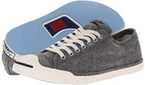 Converse Jack Purcell LP Ox Compacted Wool (Gray Heather) - Footwear