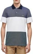 Lacoste Pique Block Stripe Regular Polo Shirt