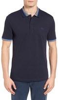 Lacoste Men's Semi-Fancy Slim Fit Stretch Pique Polo Shirt