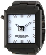 Rockwell Time Unisex FS103 50mm2 Black Plated Stainless Steel and White Watch