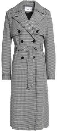 Claudie Pierlot Houndstooth Cotton Trench Coat