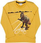 Paul Smith Dinosaur-Print Cotton Jersey T-Shirt-YELLOW