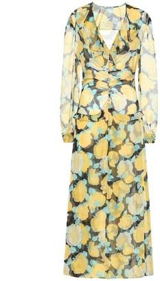 Miu Miu Floral georgette maxi dress