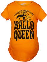 Orange 'Hallo Queen' Maternity Tee