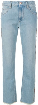 Etoile Isabel Marant Embroidered Frayed Jeans