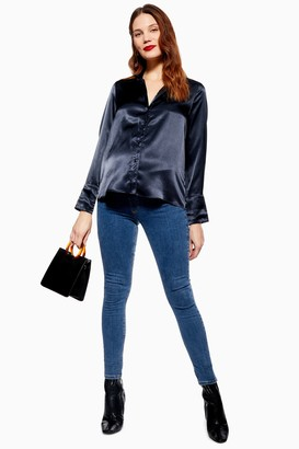Topshop Womens **Maternity Blue Under The Bump Joni Jeans - Mid Stone