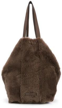 Brunello Cucinelli Faux Fur Tote Bag
