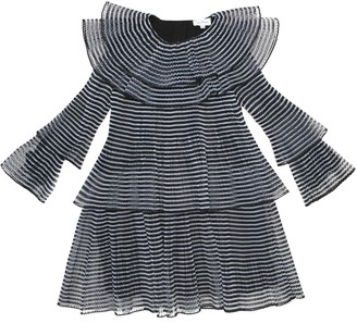 Marc Jacobs Striped pleated voile dress