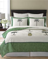 Martha Stewart Collection Pineapple Tropic King Quilt