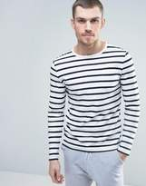 Celio Long Sleeve Top with Stripe