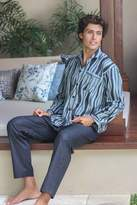 Men's cotton pajamas, 'Ocean Fog'