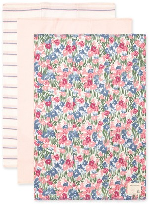 Burt's Bees Extra Absorbent Flower Fields Organic Baby Burp Cloth 3 Pack