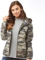 Jacqueline De Yong Womens Ash Camo Jacket Kalamata