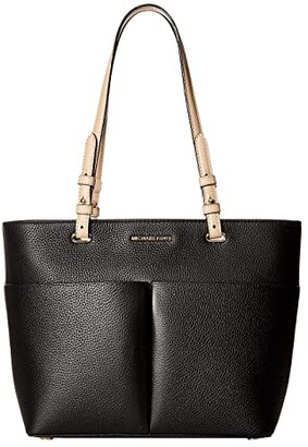 MICHAEL Michael Kors Bedford Medium Top Zip Pocket Tote (Black) Tote Handbags