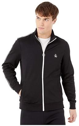 Original Penguin The Earl Track Jacket (True Black) Men's Clothing