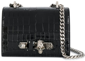 Alexander McQueen small Jewelled 4-ring satchel
