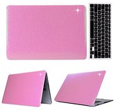 "MacBook Pro Regular 13-inch Case,Soundmae 2in1 Ultra Slim Bling Sparkly Glitter Pattern Hard Protector Case Snap Protective Cover + Keyboard Skin for Macbook Pro 13.3"" Regular[A1278] - Pink"
