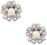 Carolee Grand Entrance Faux-Pearl Flower Stud Earrings