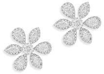 Bloomingdale's Fancy Cut Diamond Flower Stud Earrings in 14K White Gold - 100% Exclusive