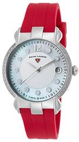 Swiss Legend Women's 'Layla' Quartz Stainless Steel and Silicone Casual Watch, Color:Red (Model: 16591SM-02-RDS)