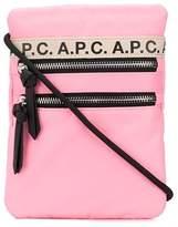 A.P.C. logo trim crossbody bag