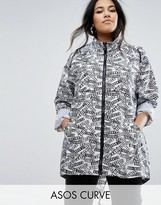 Asos Pac-a-Trench in Graphic Print