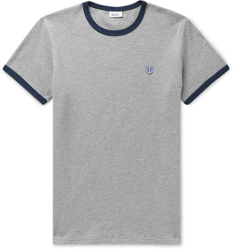 Schiesser Leo Cotton-Mesh Pyjama T-Shirt