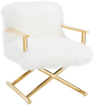 Tov Jodi White Sheepskin Chair