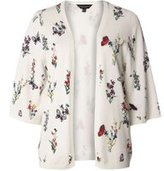 Dorothy Perkins Womens Ivory Floral Print Cardigan- White