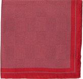 Fairfax Men's Micro-Dot Silk Pocket Square-RED