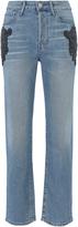 3x1 Burke High-Rise Beaded Boyfriend Crop Jeans