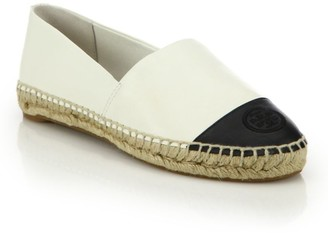 Tory Burch Cap-Toe Colorblock Leather Espadrilles