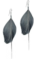 Style Tryst Feather Chain Earrings