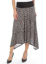 Apt. 9 Women's Print Shark-Bite Midi Skirt