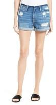 Frame Women's Le Cutoff Frayed Waist Cuffed Denim Shorts